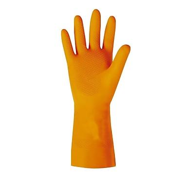 Ansell – Gants en latex naturel, intérieur ouaté, fini losange embossé, très épais, taille 9, 29 mil, orange, 12/paq., 144/boîte
