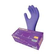 Ronco – Gants d'examen en nitrile Blurite Plus non poudrés, très grand, bleu foncé, 100/paq., 1000 par boîte
