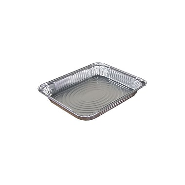 Pactiv Half Size Foil Steam Table Pan, Shallow, 100/Case