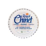 CKF – Assiettes pour revente Royal Chinet en pâte de fibres naturelles, motif fleurs et feuilles, 24 par paquet, 360 par boîte