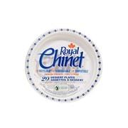 Royal Chinet Natural Pulp Fibre Resale Plate, Flower & Leaf Design, 20/Pack, 480/Case