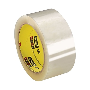 Scotch 373 High Performance Box Sealing Tape, 48 mm x 914 m, Clear, 6/Case