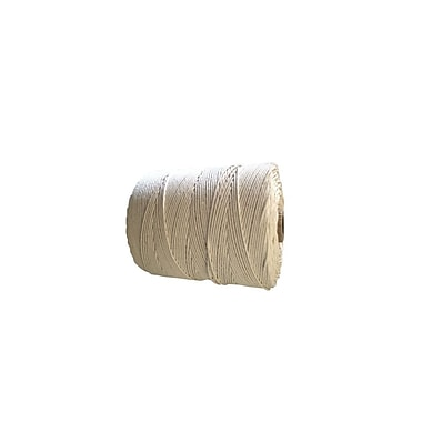 Waterloo Cotton Polished 6R Twine, 1 lb., White 10/Pack, 50/Case
