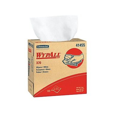 WYPALL – Essuie-tout X70 Hydroknit, 9,1 x 16,8 po, blanc, 100 feuilles par paquet, 10 paquets par boîte