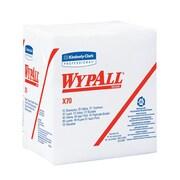 WYPALL – Essuie-tout X70 HYDROKNIT avec pochette, 12 1/2 x 13 po, blanc, paquet/76, boîte/912