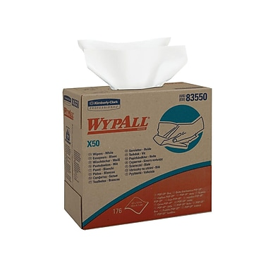 X-50 Wypall Pop-Up Wiper, Boxed, 9.1