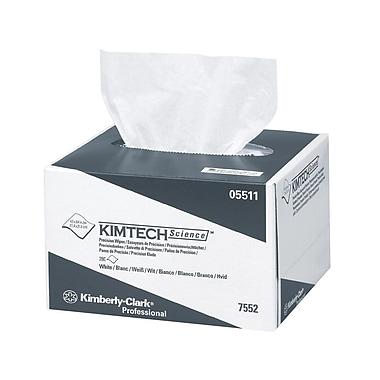 Kimtech ScienceMD – Essuyeurs de précision, 4,4 x 8,4 po, 1 épaisseur, blanc, paq./280 feuilles, bte/60 paq.