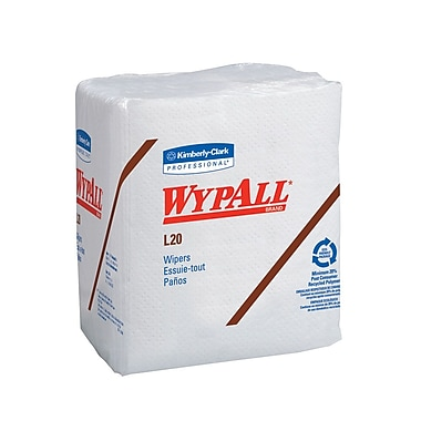 Wypall L20 1/4 Fold Wipes, 12-1/2