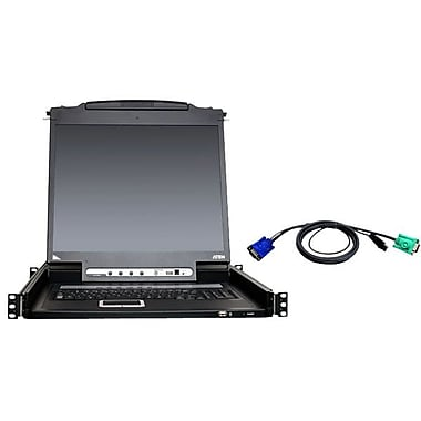 Aten® 8-Port Single Rail KVM Bundle Kit