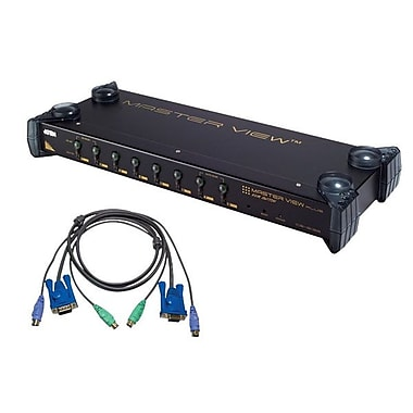 Aten® 8 Port PS/2 KVM Switch with 8 PS/2 Cable
