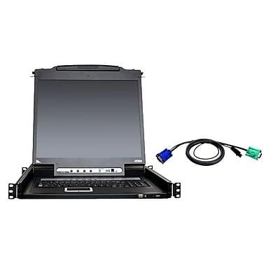 AtenMD – Commutateur KVM 8 ports avec 8 câbles, 19 po