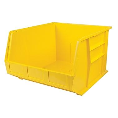 KLETON – Bacs en plastique, 16 1/2 larg. x 18 prof. x 9 haut. (po), jaune, paquet de 3