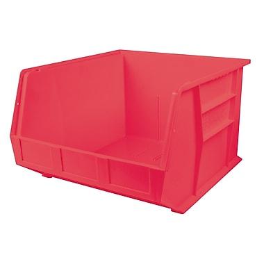 Kleton – Bacs en plastique, 9 haut. x 16 1/2 larg. x 18 prof. (po), rouge, paquet de 3