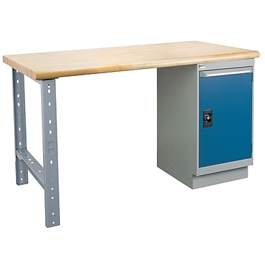 Kleton Workbench, Laminated Top, 1 Pedestal and 1 Door, 24