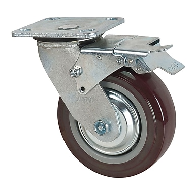 Kleton Polyurethane Casters with Swivel and Brake, 6