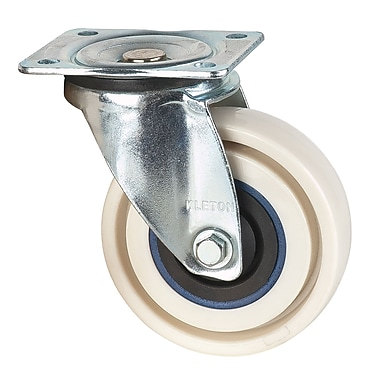 KLETON – Roulettes anti-crevaisons, rigides, 4 po, pivotantes, 2/paquet