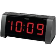 "Timex® AM/FM Dual Alarm Clock Radio With Jumbo 1.8"" LED Display & Aux Input"