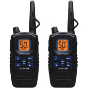 Olympia® R300 40-Mile 2-Way Radio, Black/Blue