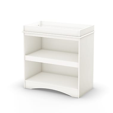 South Shore Peek-a-boo Collection Changing Table, Pure White, 34.75