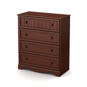 "South Shore™ Savannah 41"" Laminated Particleboard 4-Drawer Storage Chest, Royal Cherry"