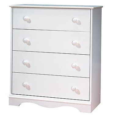 South Shore Heavenly 4-Drawer Chest, Pure White