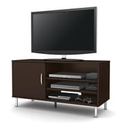 "South Shore™ Renta 24"" x 46"" x 18"" TV Stand with Single Door, Chocolate"