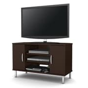 "South Shore™ Renta 24"" x 38"" x 19"" Corner TV Stand with Double Door, Chocolate"