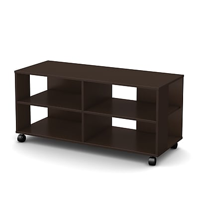 South Shore™ Jambory Wood Storage Unit With Casters, Chocolate