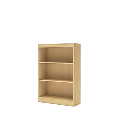 South Shore™ Axess 3-Shelf Laminated Particleboard Bookcase, Natural Maple
