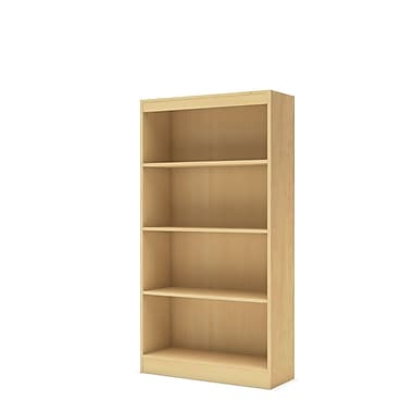 South Shore™ Axess Laminated Particleboard 4-Shelf Bookcase, Natural Maple