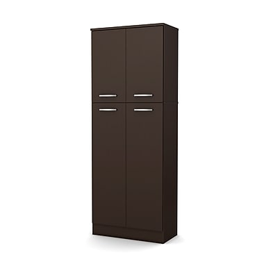 South Shore Axess Storage Pantry, Chocolate (7159971)