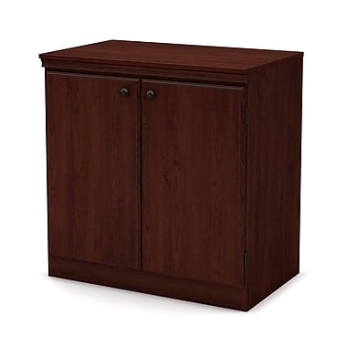 South Shore Morgan Small 2-Door Storage Cabinet, Royal Cherry (7246722)