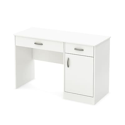 South Shore Axess 47'' Rectangular Laminate Contemporary Computer Desk, Pure White (7250070)