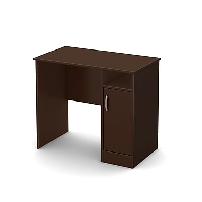 South Shore Axess 35.5'' Rectangular Wood Contemporary Computer Desk, Chocolate (7259075)