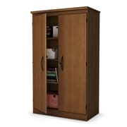 South Shore Storage Armoire, Natural Cherry
