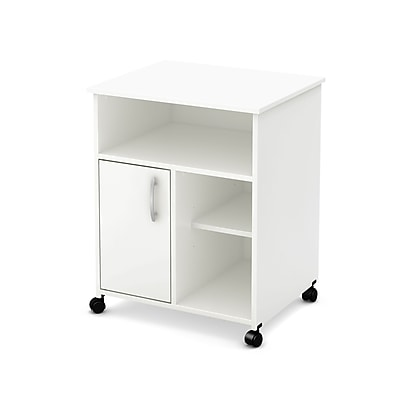 South Shore™ Fiesta Microwave Storage Cart With Wheels, Pure White