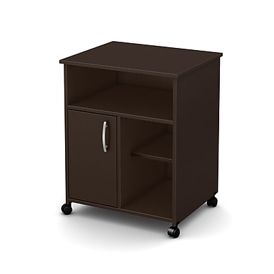 South Shore™ Fiesta Microwave Storage Cart With Wheels, Chocolate