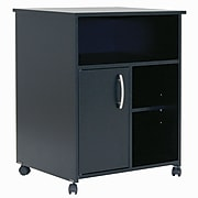 South Shore™ Fiesta Microwave Storage Cart With Wheels, Pure Black