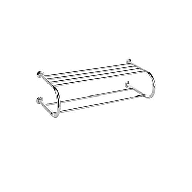 Whitmor Metal Shelf and Towel Rack, Chrome
