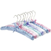 "Whitmor Satin Padded 6.95"" x 15.75"" x 1.25"" Hanger Set, Pastel"