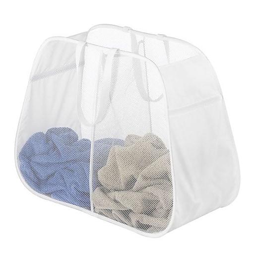 Whitmor Pop And Fold Double Laundry Hamper White Staples