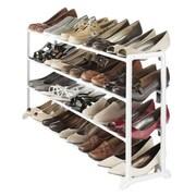 Whitmor 20 Pairs Capacity Floor Shoe Stand, White