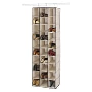 Whitmor 30 Pairs Capacity Hanging Shoe Shelves, Espresso Trim