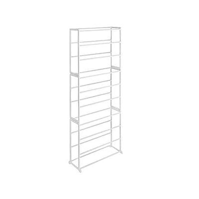 Whitmor 30 Pairs Capacity Shoe Tower Rack, White