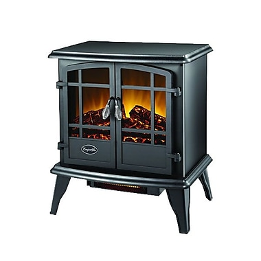 World Marketing Comfort Glow™ Keystone Electric Stove With Infrared Quartz, Black