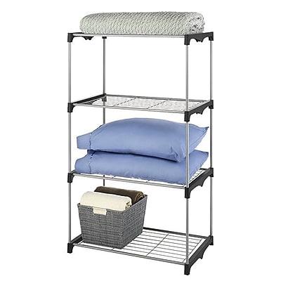 Whitmor 4-Tier Closet Organizer Shelves, Silver