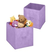 Whitmor Polypropylene Collapsible Storage Cube, Purple