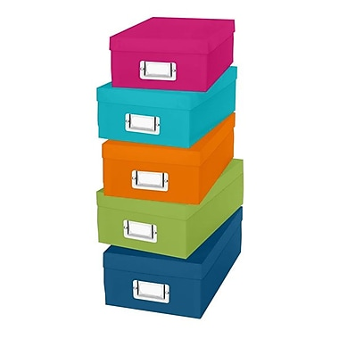 Whitmor Plastic Organizer Box Set, Assorted