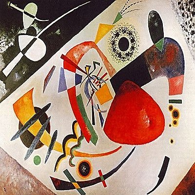 iCanvas ''Red Spot'' by Wassily Kandinsky Prints Graphic Art on Canvas; 37'' H x 37'' W x 1.5'' D