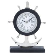 Woodland Imports Metal Anchor Clock